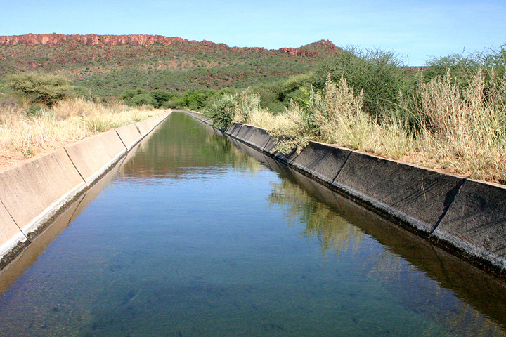 Channel for drinking water at the Waterberg.