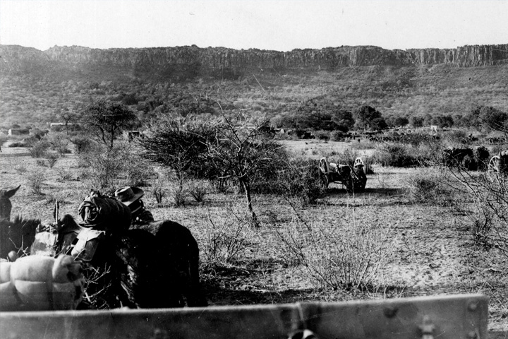 Artillery of the German Schutztruppe at the Waterberg.