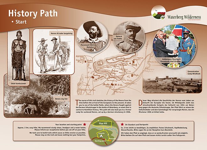 One of the information boards of the newly established History Path
