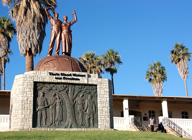 Monument for the victims of the colonial war in Windhoek